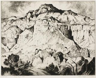 Gene Kloss | 1903 - 1996 NA | Navajo Canyon Cliffs