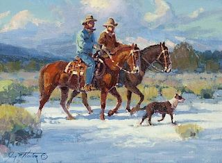 Jim C. Norton | b. 1953 CAA, NWR | Cowboys of the Diamond Bar