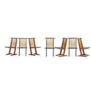 GEORGE NAKASHIMA Seven Conoid dining chairs