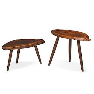 MIRA NAKASHIMA Pair of side tables