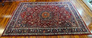 Semi-Antique Large Persian Rug.
