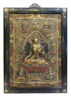 Antique Bronze Thanka