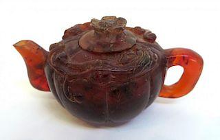 Small Amber Chinese Tea Pot