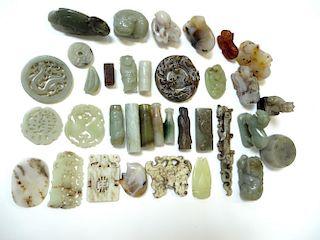Assorted Smaller Jade Items
