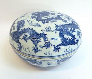 Guangxu Blue & White Lidded Dish