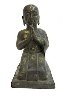 Antique Gold Gilt Bronze Buddha Casting