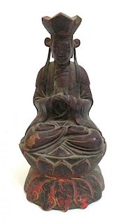 Qing Dynasty Carved Buddha