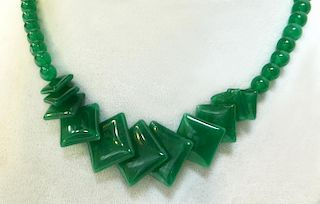 Square Jade Necklace