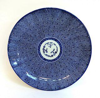 Blue & White Porcelain Charger