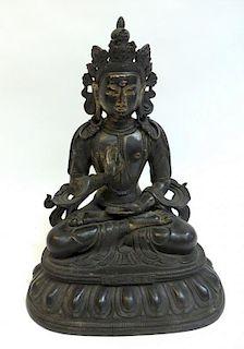 Qing Dynasty Qianlong Buddha In Bronze
