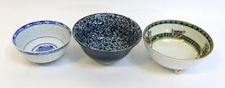 Three Assorted Bowls