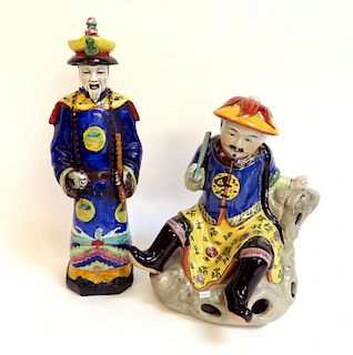 Two Porcelain Figures Of Chinese Men