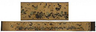 Chinese Scroll With Kittens