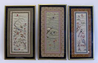 Three Embroidery Panels