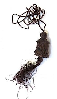 Carved Wooden Buddha Necklace