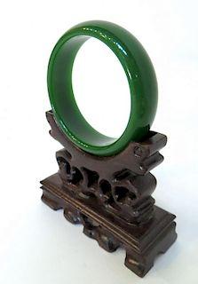 Dark Green Jade Bracelet