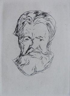 Edvard Munch drypoint