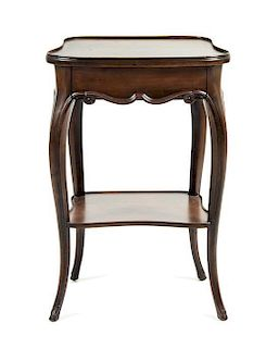 A Louis XV Style Walnut Side Table Height 27 1/4 x width 17 3/4 x depth 13 1/4 inches.