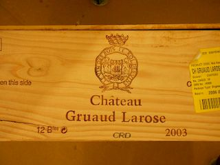 Chateau Gruaud-Larose, St Julien 2eme Cru 2003, twelve bottles in owc. Removed from a private cellar