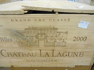 Chateau La Lagune, Haut Medoc 3eme Cru 2000, twelve bottles in owc, some cellar rot to box base <br>
