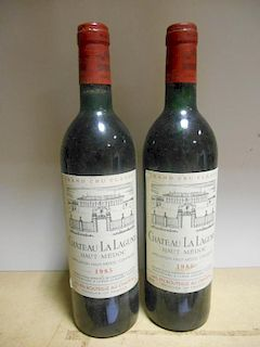 Chateau La Lagune, Haut-Medoc 3eme Cru 1985, two bottles (levels very top shoulder); together with f