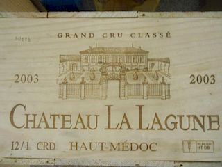 Chateau La Lagune, Haut-Medoc 3eme Cru 2003, twelve bottles in owc. Removed from a private cellar in