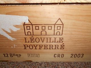 Chateau Leoville Poyferre, St Julien 2eme Cru 2003, twelve bottles in owc. Removed from a private ce