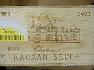 Chateau Rauzan Segla, Margaux 2eme Cru 2003, twelve bottles in owc. Removed from a private cellar in