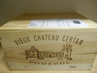 Vieux Chateau Certan, Pomerol 2000, six bottle owc (ex. The Wine Society) <br>