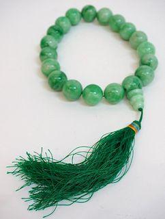 Green Jadeite Wrist Mala