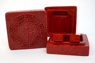 Bloodstone Seal & Inkstone Set