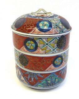 Imari Stacked Porcelain