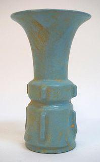 Celadon Glazed Gu Vase