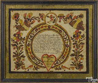 Blousy Angel artist (Southeastern Pennsylvania, active 1780-1811)