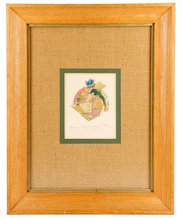 """Jacques Villon, """"La Tete"""", Signed Lithograph"""