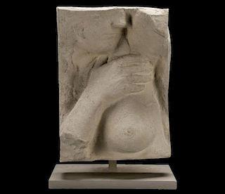 "George Segal, ""Hand Over Breast"", Sculpture"