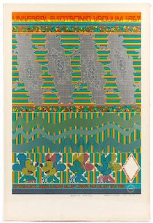 """E. Paolozzi Signed AP Serigraph """"UEV #9: Whipped"""""""