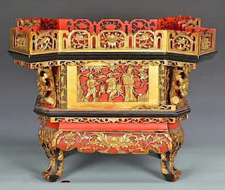 Chinese Gilt Carved Temple Altar or Shrine