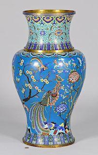 Chinese Palace Size Cloisonne Vase
