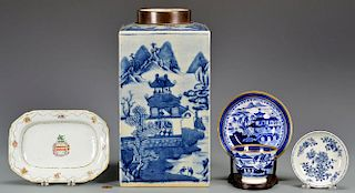 5 Chinese Export Items inc. Armorial
