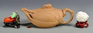 Three Chinese Ceramic Items, incl. miniatures