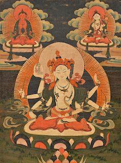 Tibetan Thangka, Ushnishavijaya
