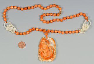 Jade Necklace w/ salamander disk