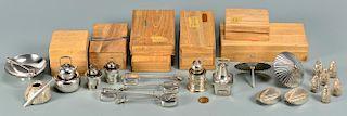 Japanese silver novelty salts, 24 pcs.