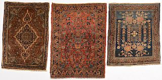Three Sarouk Mats, 1st half 20th c.