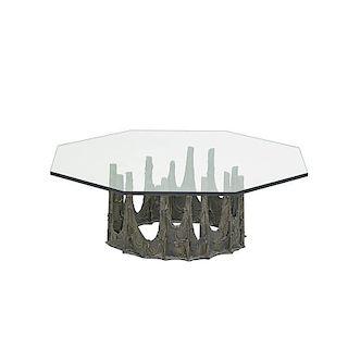 PAUL EVANS Sculptured Metal coffee table