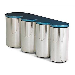 PAUL EVANS; PAUL EVANS STUDIO Cylinder cabinet