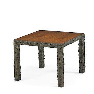 PAUL EVANS Sculptured Metal table