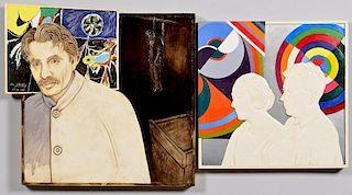 Jonathan Santlofer portraits: Gorky & Delaunays