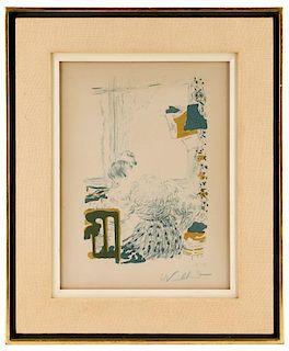 "Edouard Vuillard 1894 Print ""La Couturiere"" 28/100"